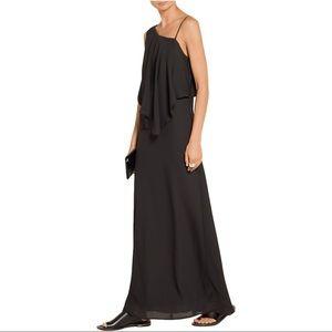 Elizabeth & James Ellie black draped maxi dress